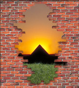 Brick Wall Pyramid